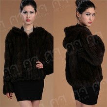 2015 New style Women noble knitted mink fur coat
