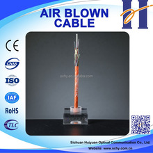 HUIYUAN stable structure air blown micro armoured 12 core fiber optic cable
