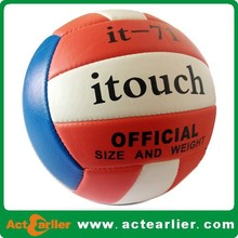 size 5 soft pvc machine stitched volley balls