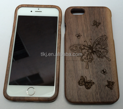 blank wood case for iphone 6s plus handmade nature wood case bamboo wood phone case