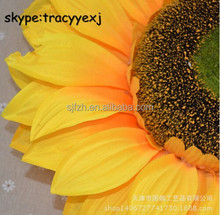 Cheap artificial flower Artificial sunflower head products made from sunflowers for square decoration
