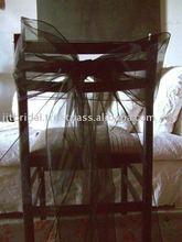 SH013 Wedding chair sashes, Banquet chair sashes, Organza chair Ribbon