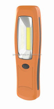 led work light cob work light Battery operated 200/50 lumens 3W COB work light with strong magnet 360 degree hook
