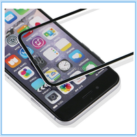 Perfect Use 100% Full Cover color mobile phone tempered glass screen protector with small frame for iphone 6/6 plus