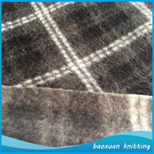 100%polyester plaid pattern lustring faced pile fabric