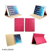 H&H professional flip leather anti-shock case for ipad 5/air made in china