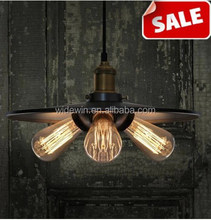 Industrial personality sitting room dining-room cafe bars creative copper lamp holder single head lamps hanging lamp of iron art