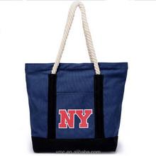 Classic soft loop handle bag college student canvas shoulder bag