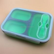 Fourchette et cuillère pliage boîte à lunch, Boîte de Silicone déjeuner, Enfants boîte à Lunch