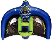 High quality inflatable Manta Ray tube/ towable flyfish Manta Ray for adults