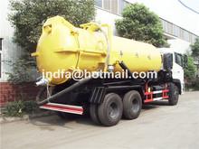 cesspit emptier double bridge Suction sewage dump tipper vacuum truck (JDF5250GXWDFL 6x4 16CBM 18CBM 20CBM truck)