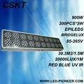 De alta potencia 900w 300pcs*3w apolo 20 ajustable led crece la luz roja 630 nm/460nm