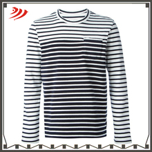 Plain Wholesale Cheap Cotton V Neck Long Sleeve mens T-Shirt