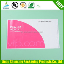 color poly bag 100/full color printing/air express china