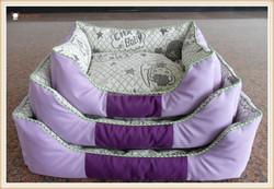 Luxury Pet Dog Bed Wholesale Fleece Dog Bed Purple Dog Kennel