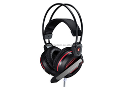 Lightweight Stereo Gaming Headphone with backlight , over the ear gaming headset