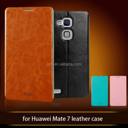Mofi smart phone cases cheap leather mobile phone case cover for Huawei mate 7 case