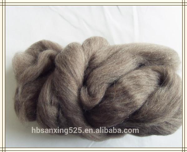 23mic naturelle tannage v u00e9g u00e9tal laine top roving fiber