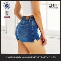 Tinted denim 4-Pocket Pin-Up Short Jeans For Women