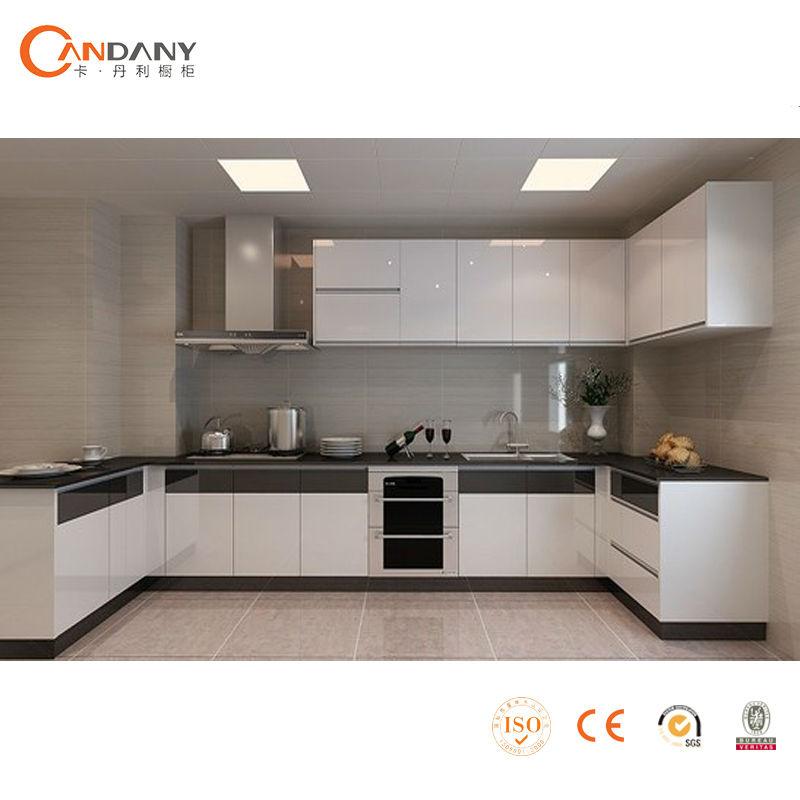 Chambre Bebe Gris Orange : 2014 nouveau Design moderne brillant acrylique armoires de cuisine [R