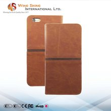 Factory custom made money case for genuine leather iphone 6s case