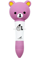 ABS Plastic Point Cute bear talking pen Support Custom