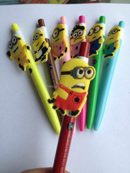 cheap wholesale rubber minions pencils at factory price