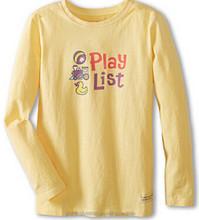 yellow kids long sleeve t shirt
