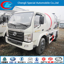 Foton mini truck concrete mixer 4*2 self loading concrete mixer