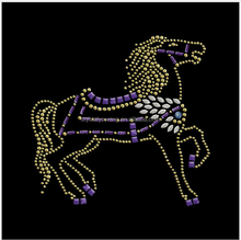 Beautiful animal hotfix motif Running Horse Mustang Rhinestone
