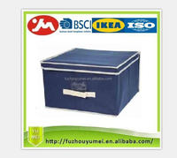 COLLAPSIBLE FABRIC STORAGE BOX/BIN WITH LID