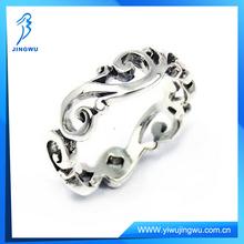 Fashion Charming Filigree Swirls All Around Band 925 Silver Ring