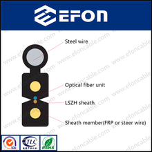 Furukawa Dual core Figure 8 FTTH Fiber Optical Flat Drop Cable / lighting plastic optical fiber cable