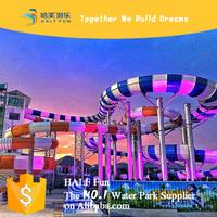 HALF Fun (NO.1 Water Park Brand on Alibaba.com) Free Design Theme Water Park or Swimming Pool Fiberglass Water Slide for Sale