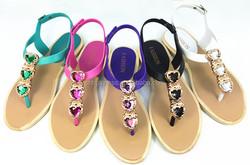 2015 New sandal flat footwear lady fashion shoe