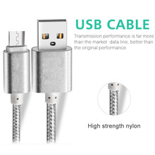 wholesale braided flat micro v8 usb cable pigtail