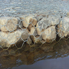 Double twisted hexagonal gabion steel wire mesh for riverbed