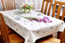 printing waterproof cheap table cloth factory