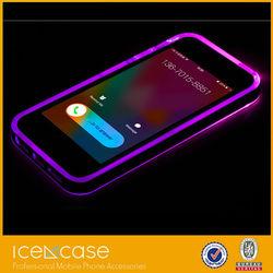 Christmas promotion mobile phone sense flash light led hard case for iphone 6