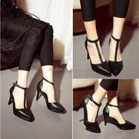 2015 LATEST ODM/ OEM Fashion design Ladies High Heel sandals fancy stones summer shoes