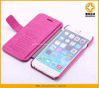 The Best PU leather Filp Case for iphone 6 with Wallet Card