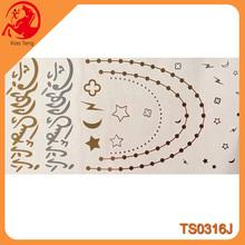 2015 Flash or argent tatouage, Bracelet de tatouage, Néon corps peinture