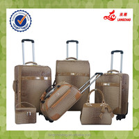 2015 New Products 4 Wheels 360-degree Luggage Exported To Africa Luggage PU Leather Luggage