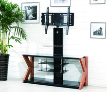 TV-K living room furniture high quality adjustable black wooden design lcd TV stand