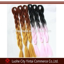 HARMRainbow kanekalon jumbo hair Synthetic 100% Kanekalon Toyokalon Fiber Hair HARMONY Ombre Color kanekalon Jumbo Braid