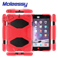 Silicone Heavy Duty military Hybrid kickstand shockproof waterproof case For iPad mini1/2