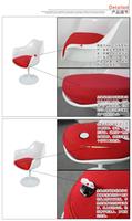 Современный минималистский dinette подлокотник стула офиса кресла стулья приема может быть повернут стул тюльпан