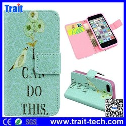 Beautiful Leather Flip case For iPhone 5C Flip Leather Case Factory Sale Top One