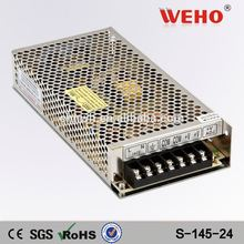 interruptor de corriente continua de alimentación fuente 24v 6a 145w fuente de alimentación industrial
