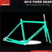 High Quality Glossy&Matte UD Finish Full Carbon Fixed Gear Frame,Miracle Fixed Gear Carbon Bike Frames